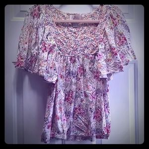 H&M Floral Tunic Top